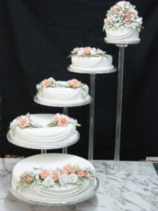 wedding drape cake